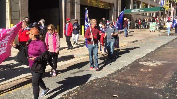 Марш в поддержку Трампа собирается в центре Вашингтона