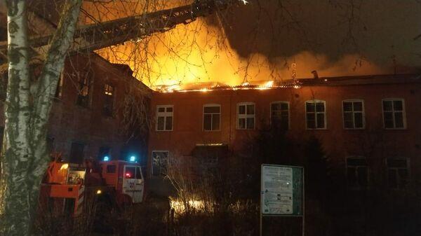 На месте пожара  в подмосковном Красноармейске