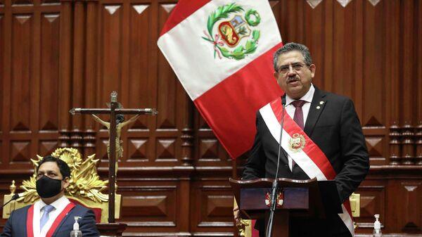 Временный президент Перу Мануэль Мерино