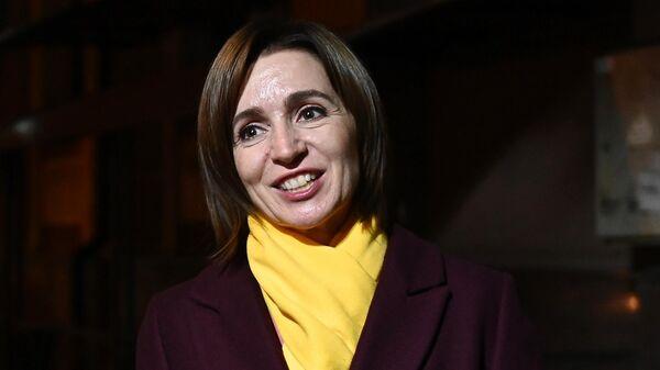 Победившая на президентских выборах в Молдавии, лидер партии Действие и солидарность Майя Санду