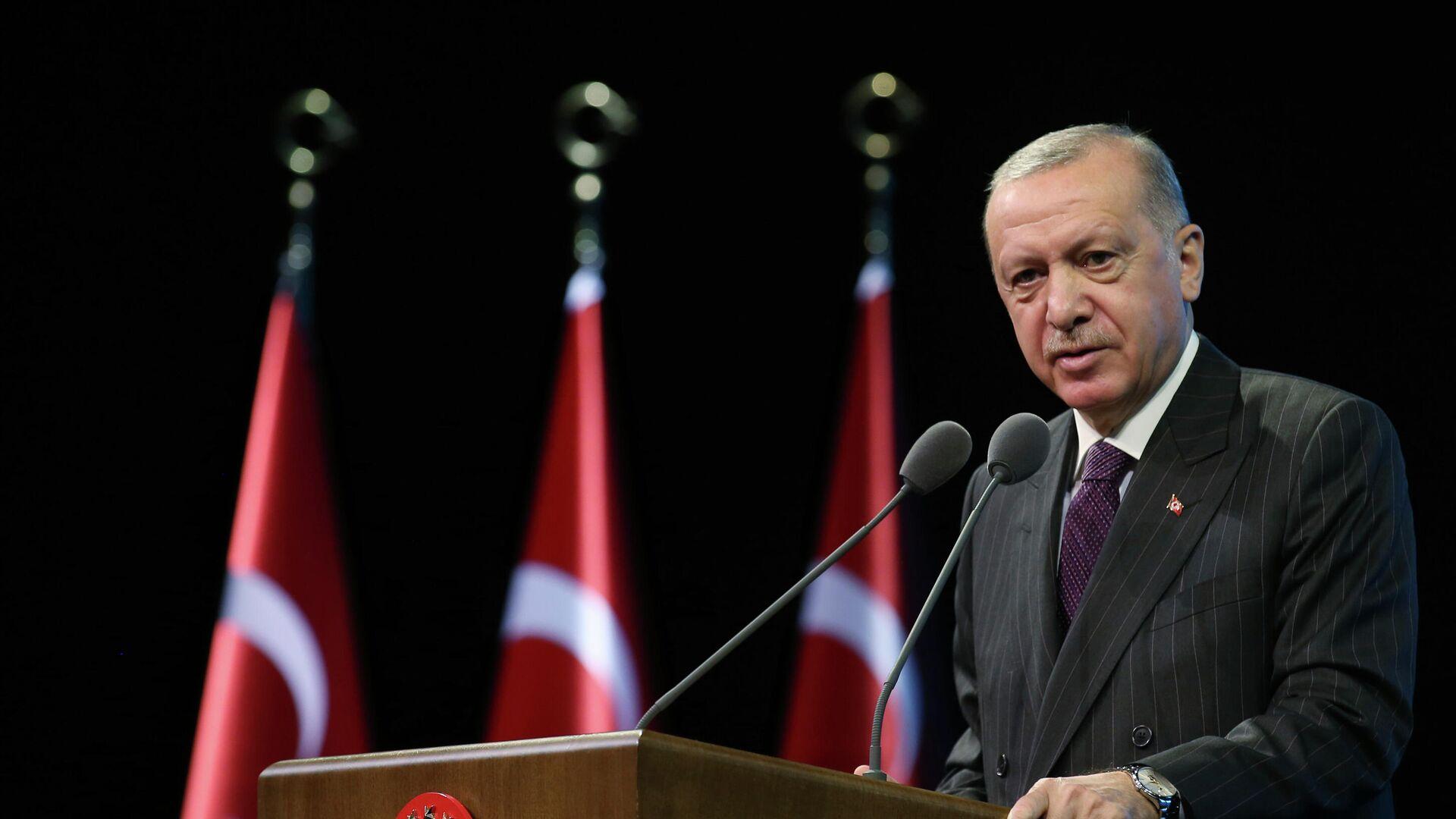 Президент Турции Реджеп Тайип Эрдоган в Анкаре  - РИА Новости, 1920, 27.09.2021