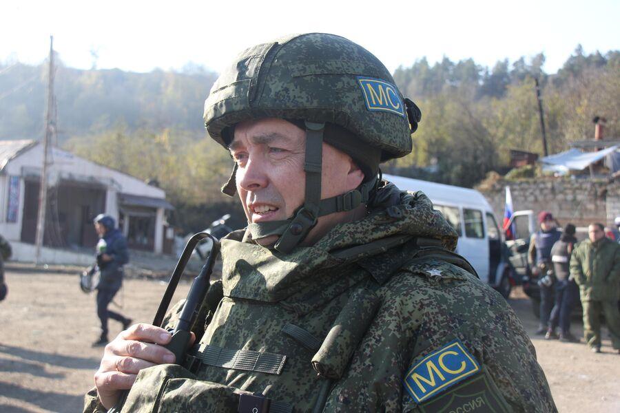 Заместитель командующего российского миротворческого контингента в Нагорном Карабахе полковник Алексей Полюхович