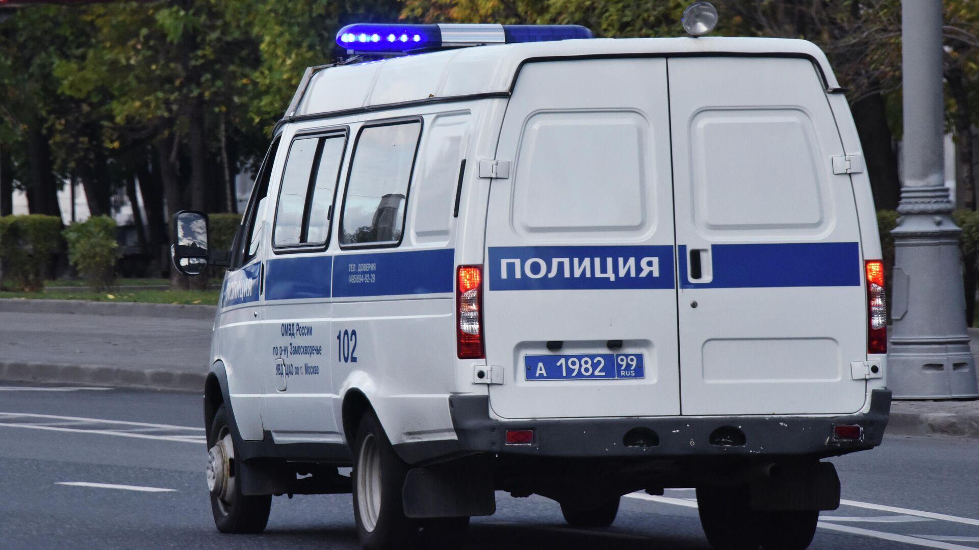 Автомобиль полиции едет по дороге - РИА Новости, 1920, 27.11.2020