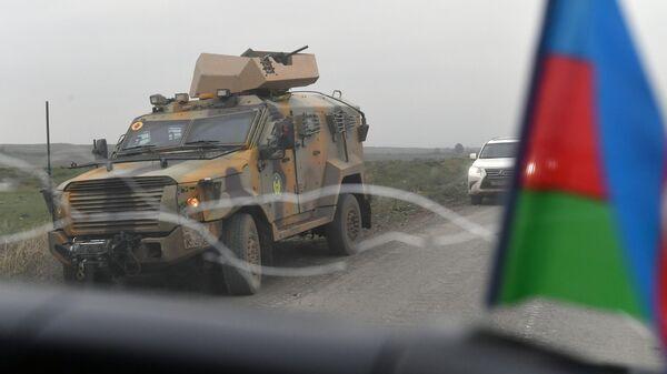 Бронеавтомобиль в Физулинском районе Азербайджана