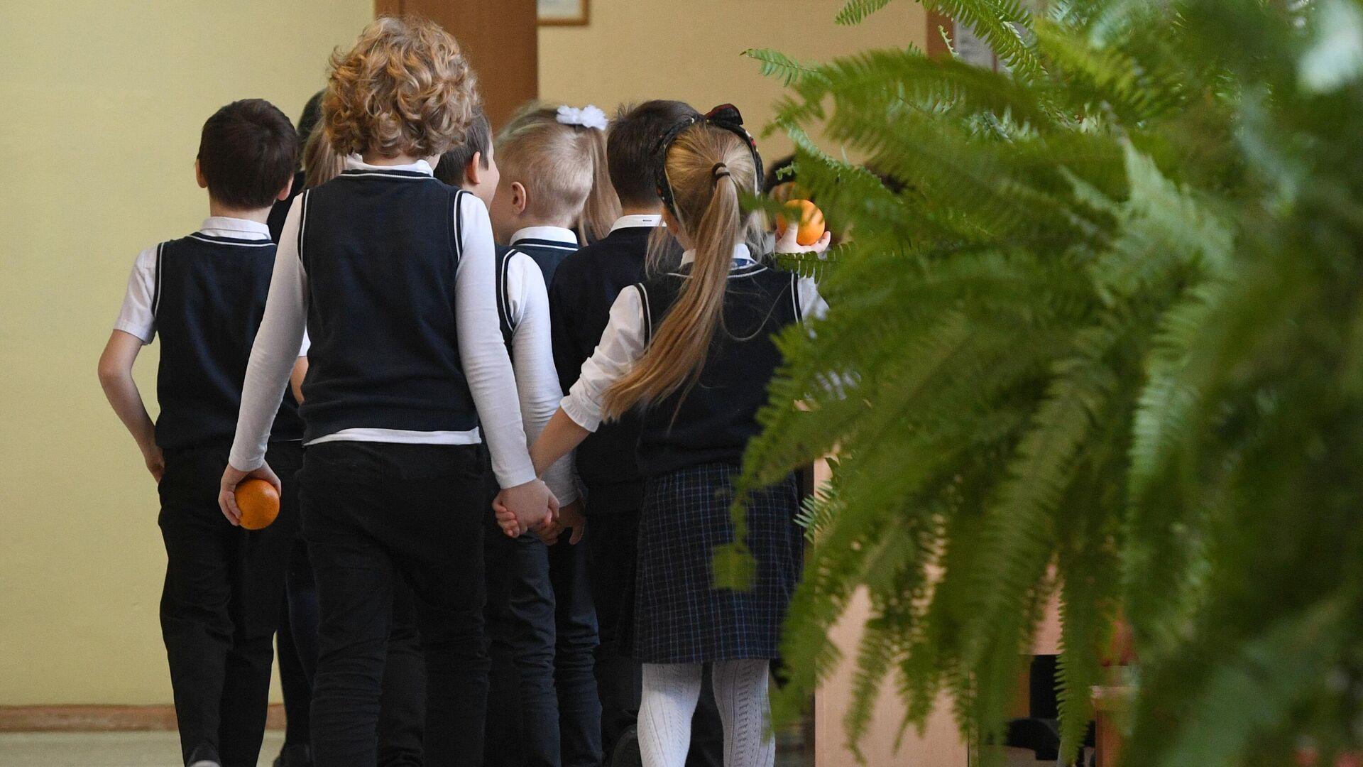 Ученики начальных классов в гимназии Новосибирска - РИА Новости, 1920, 28.07.2021