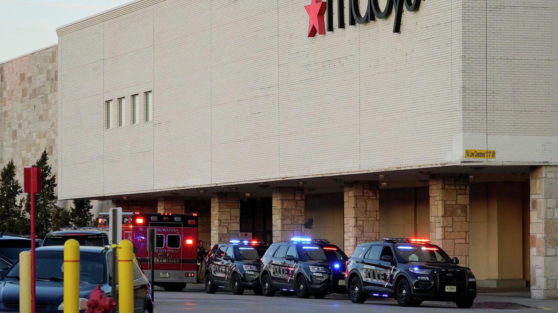 Полиция прибыла в торговый центр в Висконсине, где произошла стрельба - РИА Новости, 1920, 21.11.2020