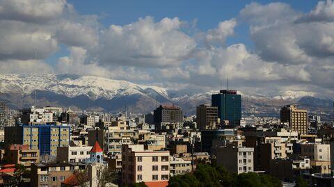 Вид на Тегеран, Иран