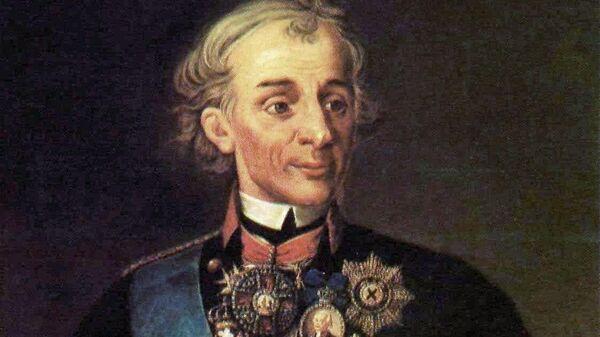 Портрет полководца Александра Васильевича Суворова. Неизвестный художник