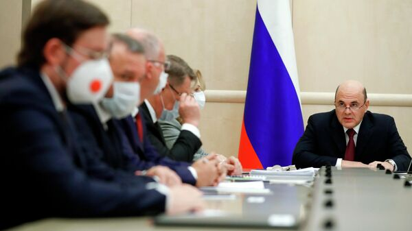 Председатель правительства РФ Михаил Мишустин проводит встречу с производителями вакцин от коронавирусной инфекции COVID-19