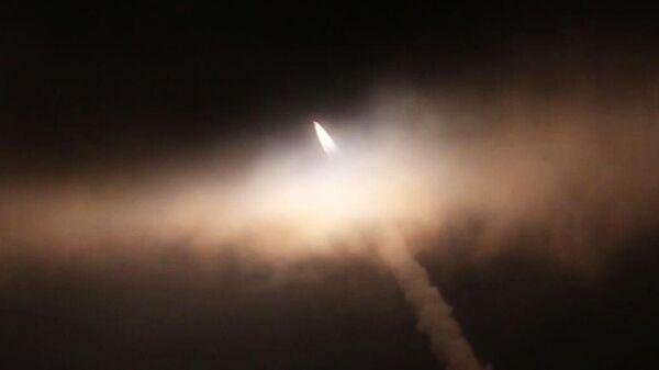 Запуск гиперзвуковой ракеты Циркон с фрегата Адмирал Горшков в акватории Северного Ледовитого океана