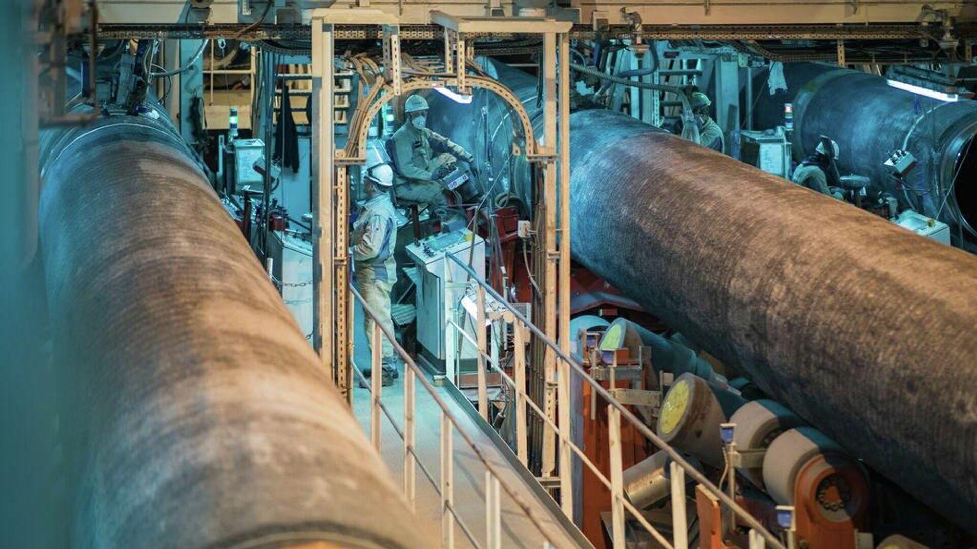 Строительство газопровода Северный поток - 2 - РИА Новости, 1920, 04.06.2021