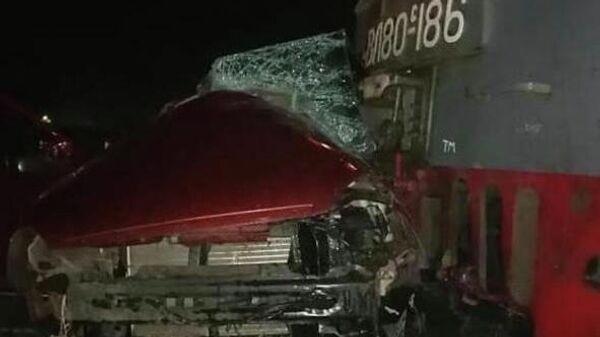 ДТП на регулируемом железнодорожном переезде  в Усть-Лабинске, Краснодларский край