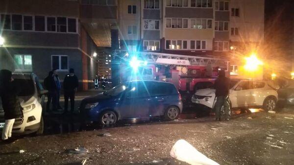 На месте взрыва в многоквартирном доме в городе Всеволожске, Ленинградская область