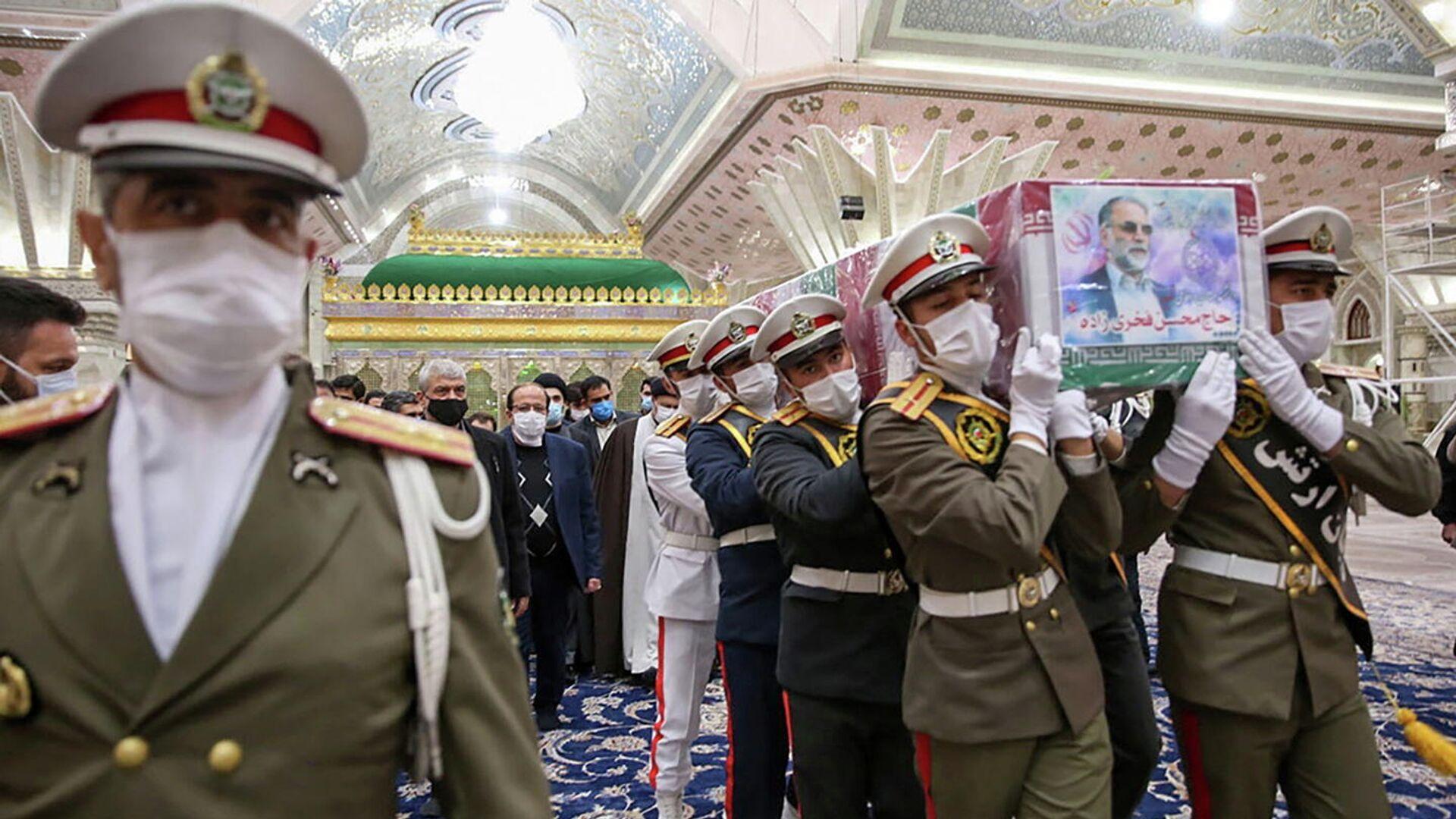 Церемония прощания с иранским ученым-ядерщиком Мохсеном Фахризаде в Тегеране - РИА Новости, 1920, 30.11.2020