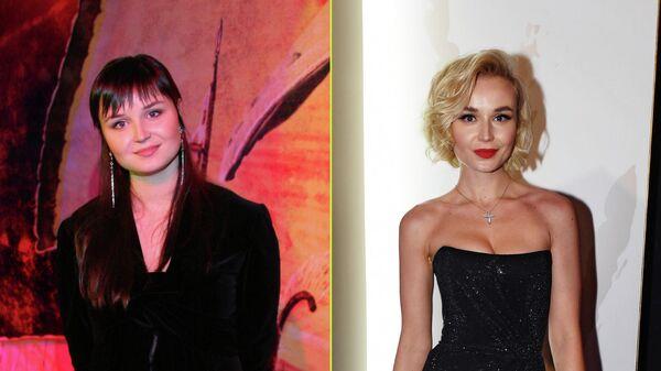 Певица Полина Гагарина в 2007 и в 2018