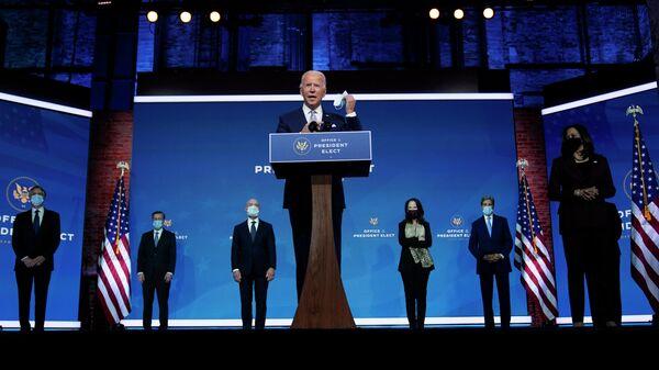 Джо Байден представляет свою команду по внешней политике и национальной безопасности в Уилмингтоне
