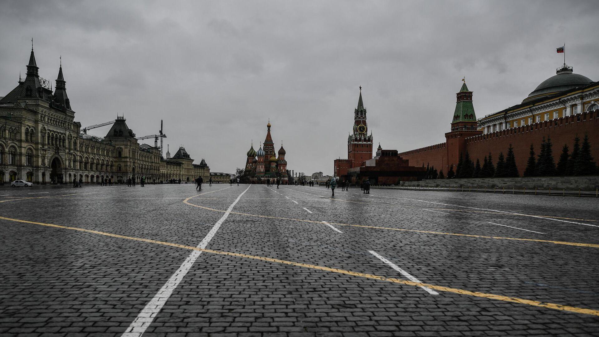 На Красной площади в пасмурную погоду. - РИА Новости, 1920, 31.03.2021