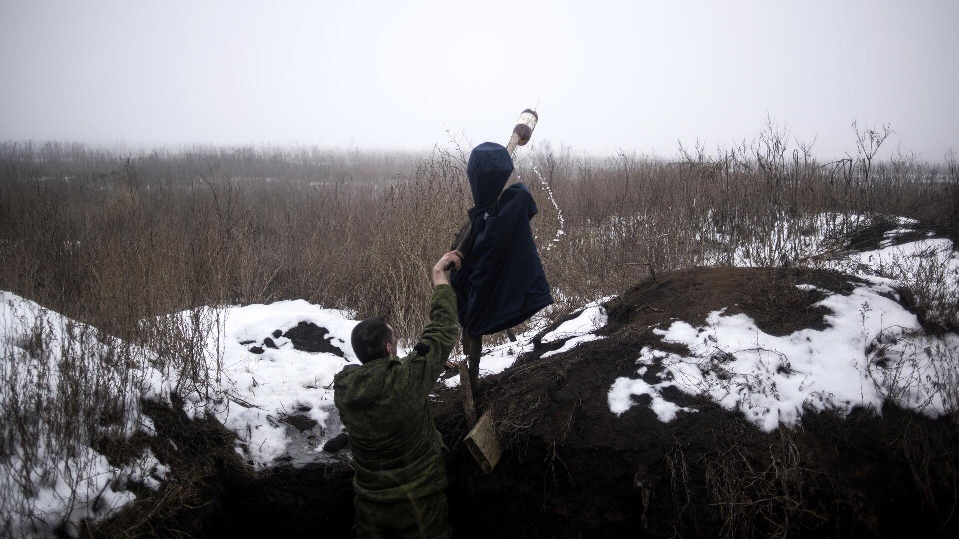 Военнослужащий ДНР в поселке Ясное Донецкой области - РИА Новости, 1920, 06.01.2021