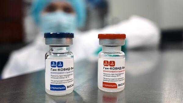 Производство российской вакцины против COVID-19 Спутник V (Гам-КОВИД-Вак)