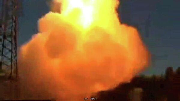 Пуск межконтинентальной ракеты с Плесецка