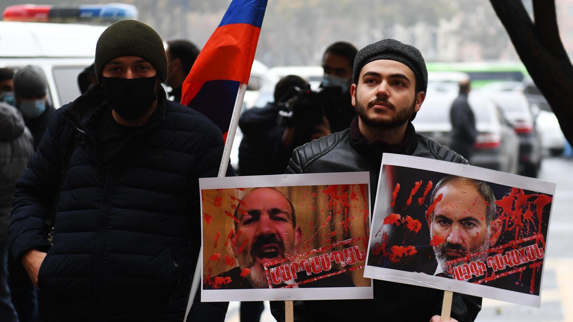 Акция протеста в Ереване - РИА Новости, 1920, 22.12.2020