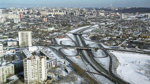 Транспортная развязка на проспекте Салавата Юлаева в Уфе