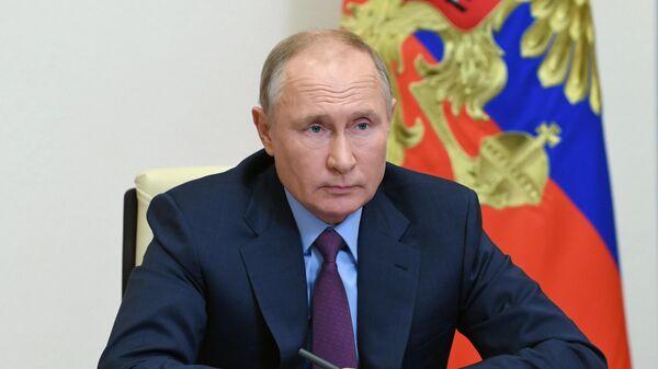 Президент РФ Владимир Путин проводит в режиме видеоконференции заседание Совета по развитию гражданского общества и правам человека