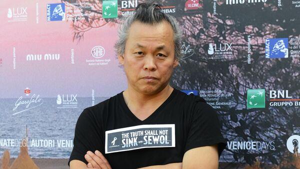 Южнокорейский режиссер Ким Ки Дук на фотоколле секции Дни Венеции (Venice Days) в рамках 71-го Венецианского международного кинофестиваля