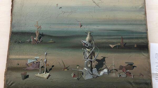 Картина Ива Танги, найденная в аэропорту Дюссельдорфа