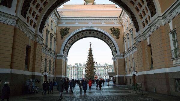 Подготовка к Новому году в Санкт-Петербурге
