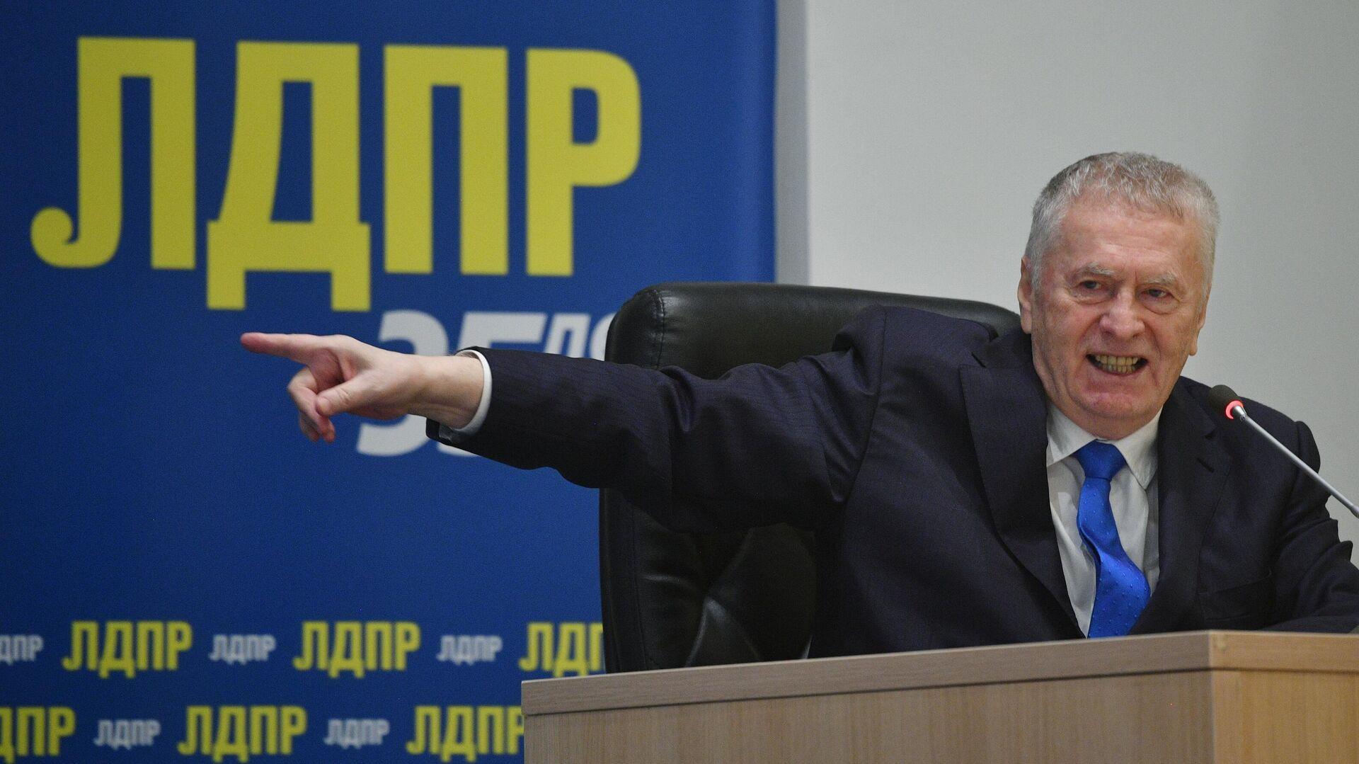 Председатель ЛДПР Владимир Жириновский выступает на съезде партии - РИА Новости, 1920, 24.12.2020