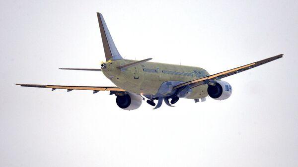 Первый полет  МС-21-310 с новыми российскими двигателями ПД-14