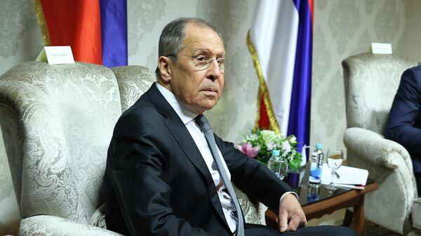 Глава МИД России Сергей Лавров во время визита в Боснию и Герцеговину
