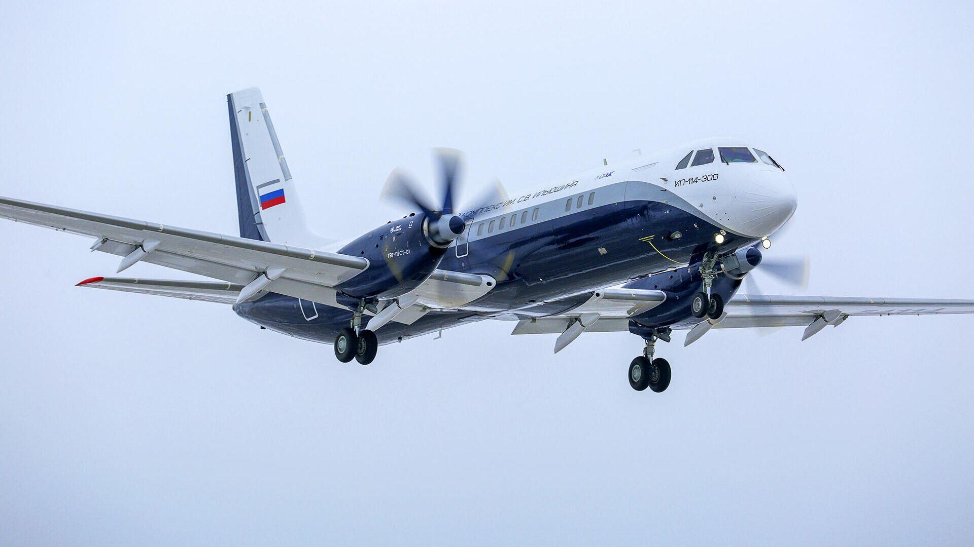 Первый полет нового российского пассажирского самолета Ил-114-300 - РИА Новости, 1920, 12.07.2021