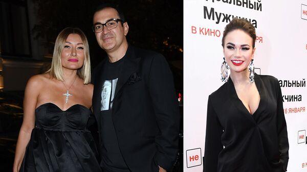 Шоумен Гарик Мартиросян с супругой Жанной и актриса Яна Кошкина