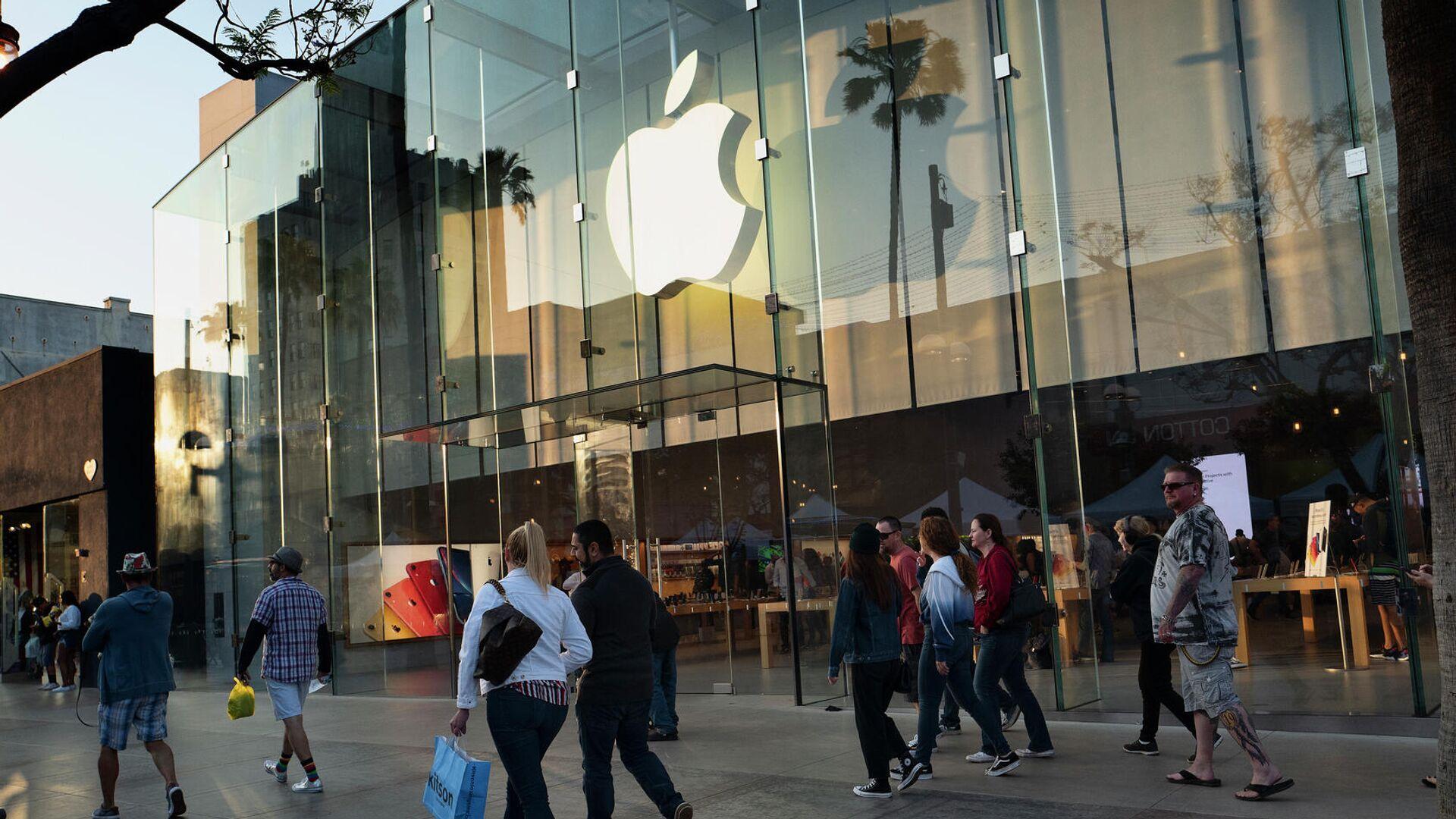 Магазин Apple в Санта-Монике, Калифорния - РИА Новости, 1920, 01.02.2021