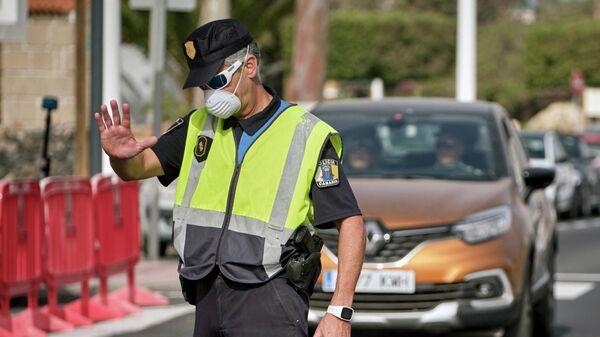 Испанский полицейский на Тенерифе