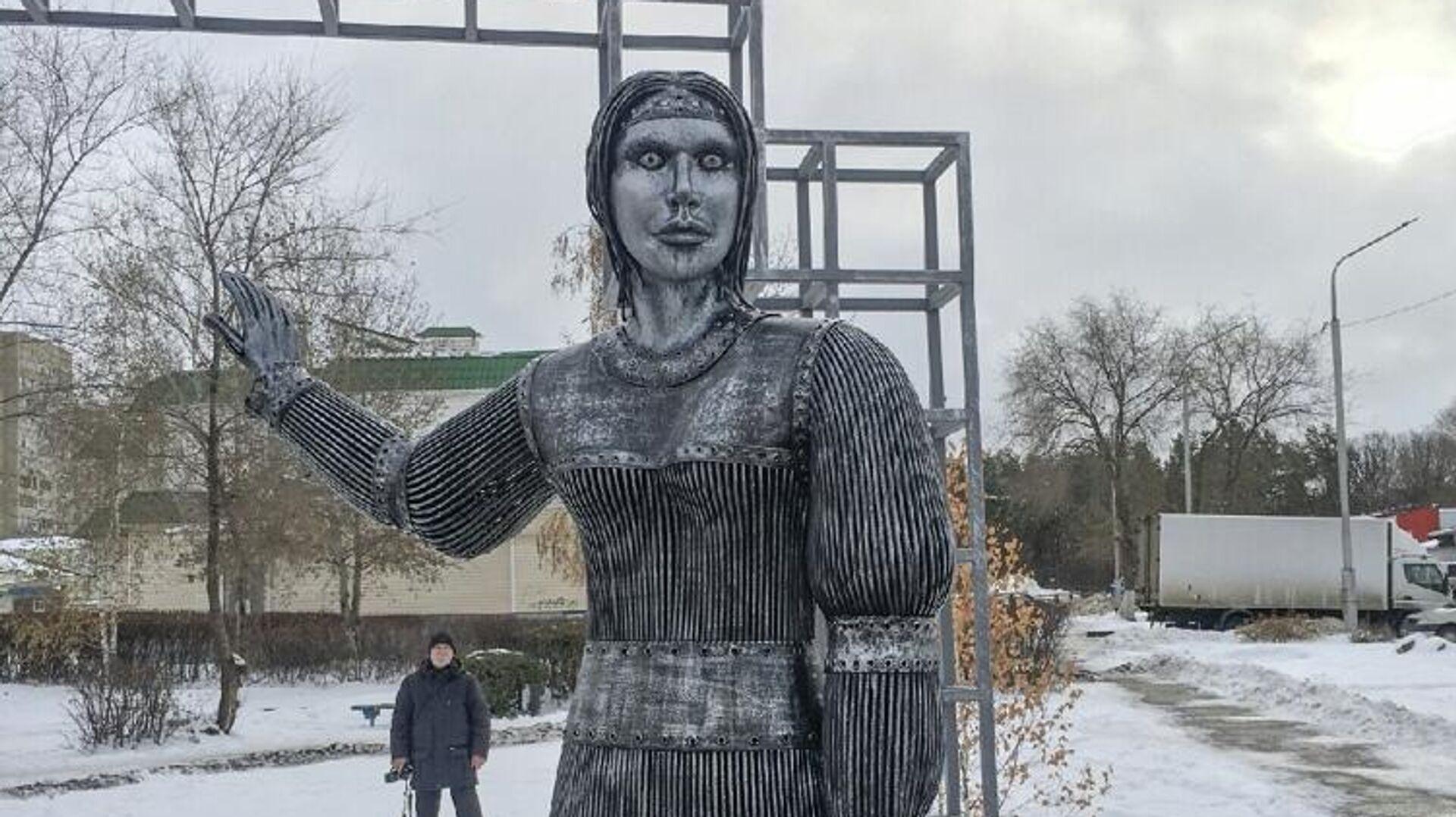 Памятник Аленке в Нововоронеже - РИА Новости, 1920, 15.02.2021