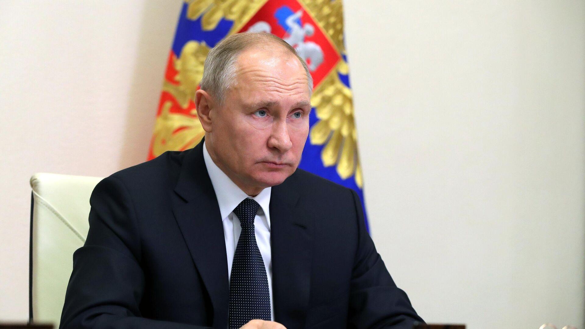 Президент РФ В. Путин провел совместное заседание Госсовета и Совета по стратегическому развитию и национальным проектам - РИА Новости, 1920, 23.12.2020