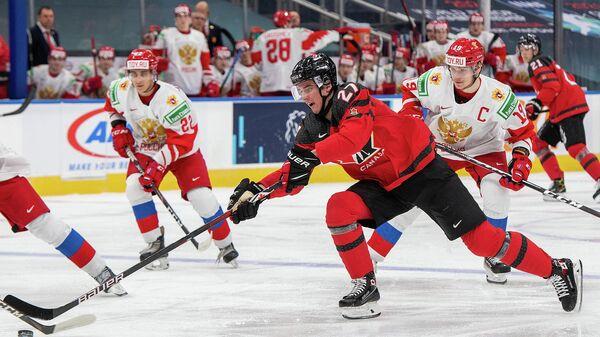 Контрольный матч между молодежными сборными Канады и России по хоккею