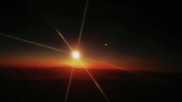 Падение метеорита в Китае 23 декабря 2020. Кадр видео очевидцев