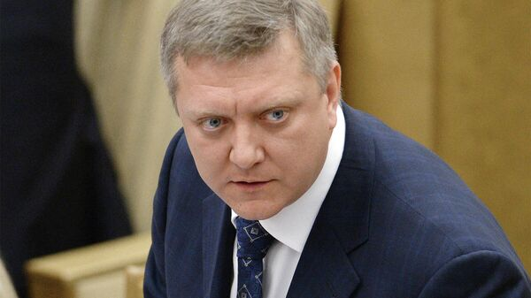 Дмитрий Вяткин на пленарном заседании Госдумы РФ