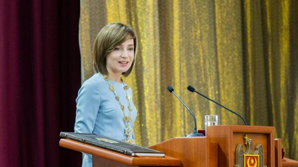 Церемония инаугурации избранного президента Молдавии Майи Санду