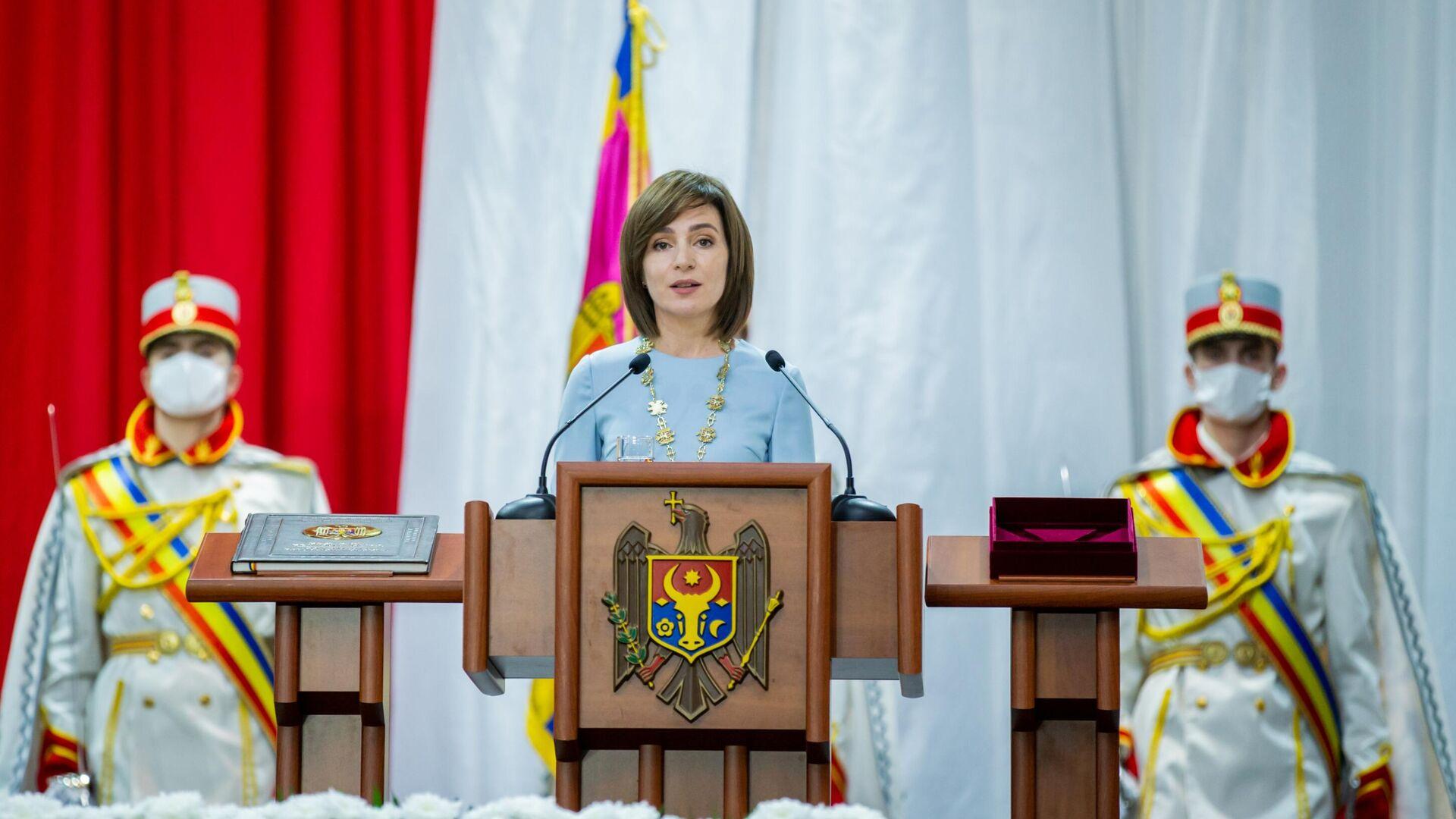 Церемония инаугурации избранного президента Молдавии Майи Санду - РИА Новости, 1920, 31.12.2020