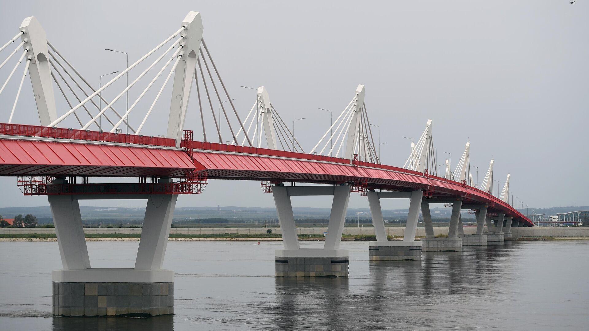 Автомобильный мост через Амур между Благовещенском и китайским Хэйхе - РИА Новости, 1920, 19.08.2021