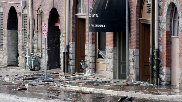 На месте взрыва в Нэшвиле, США
