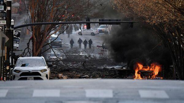 На месте взрыва в Нэшвилле, США