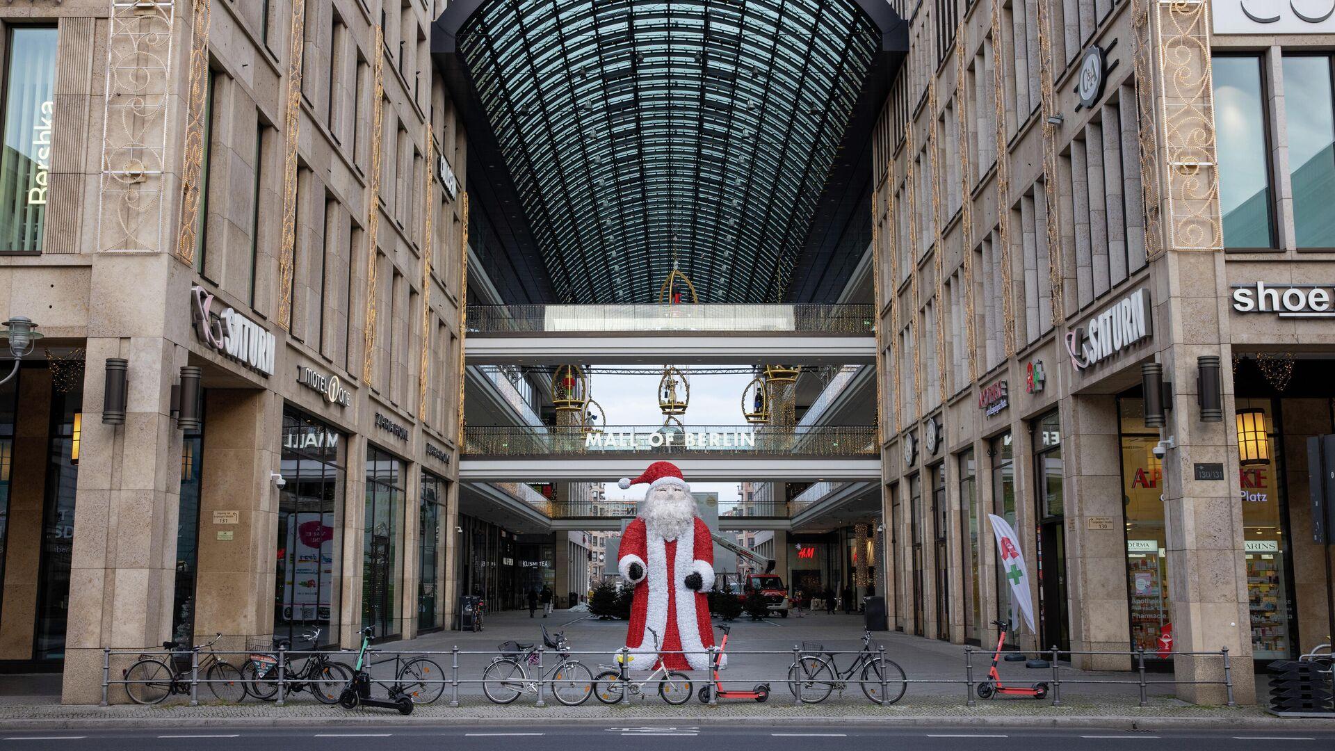 Торговый центр Mall of Berlin во время общенационального локдауна из-за второй волны пандемии коронавируса  - РИА Новости, 1920, 21.03.2021