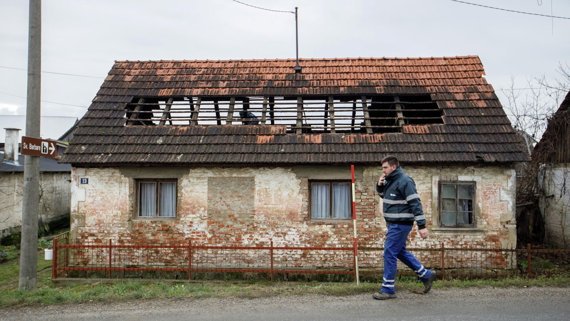 Дом, пострадавший в результате землетрясения в Хорватии - РИА Новости, 1920, 29.12.2020
