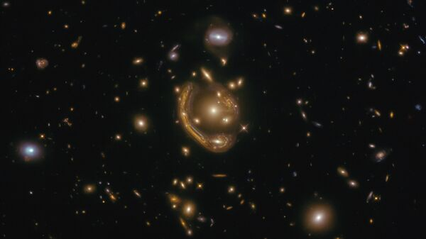 Galaxy GAL-CLUS-022058s taken by the Hubble telescope